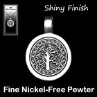 Tree Of Life Pewter Pendant Necklace  Celtic On Adjustable Cotton Cord