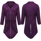 Men Swallow-tailed Crop Coat Tuxedo Banquet Stage Tail Overcoat Cosplay Jacket