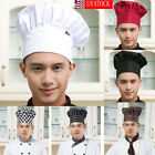 Chef Hat Adjustable Elastic Baker Kitchen Cooking Hat Cap Chef Hat Elastic USA