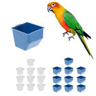 Blesiya 10Pcs Cage Hanging Dish Feeder Dispenser Drinker for Bird Parrot Pigeon