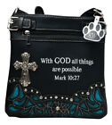 Western Purse Cross Bible Verse Concealed Carry Crossbody Shoulder Bag Handbag