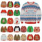 Внешний вид - Mens Womens UGLY Christmas Sweater Tops President Trump Xmas Pullover Knitted