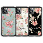 Personalised Floral Name Custom Phone Case For iPhone 11 Pro Max SE XR X XS 8 7