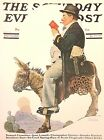 VTG Norman Rockwell Art Print Saturday Evening Post CHARACTERS *** SEE VARIETY