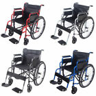 AID Wheelchair Footrest Self Propell Folding Lightweight Transit Travel Comfort