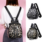 Convertible Leopard Print Faux Leather Small Mini Backpack Purse Shoulder Bag