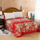 Bed Flat Sheets Cover Floral Printed Soft Sheets Twin Full Queen King image