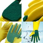 Silicone Kitchen Soft Scrub Gloves Dish Washing Cleaning Sponge Rubber Scouring