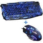 Tri-color Backlight Pro Gamer Keyboard Gaming Keyboard with 3200DPI Gaming Mouse