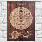 Star Wars poster Death star Patent prints Panel effect Wood wall art Mens gift