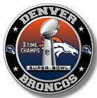 Denver Broncos Super Bowl Championship Sticker, NFL Decal 8 Different Sizes