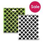 100 POLKA DOT PUNCH HANDLE PLASTIC CARRIER BAGS LARGE – 22