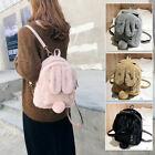 Women's Faux Fur Bunny Ears Small Backpack Rucksack Daypack Travel Bag Purse