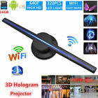 43CM 3D LED Hologram Projector WiFi Holographic Fan HD Advertising Displayer 16G