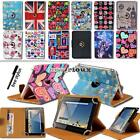 """For Various 7"""" 8"""" 10"""" Bq Tablet - Leather Rotating Stand Cover Case + Stylus segunda mano  Embacar hacia Spain"""