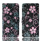 LEATHER WALLET BOOK PROTECT PHONE CASE COVER FOR SONY XPERIA L2 XA & MORE MODEL