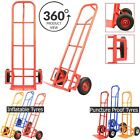 Heavy Duty Sack Truck Hand Industrial Trolley Wheel Tyre Pneumatic Barrow