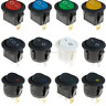 More images of Round Rocker Push Button Switch LED Illuminated Car Dashboard 12V On / Off Switch
