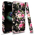 For Samsung Galaxy J7 Crown/Refine/Star Shockproof Rugged Rose Armor Cover Case