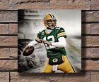 Y330 Green Bay Packers Aaron Rodgers Tackle NFL Football Poster 16x16 24x24