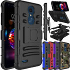 For LG Xpression Plus/Phoenix Plus Shockproof Clip Holster Slim Armor Case Cover