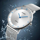 Women Girl's Ultral-Slim Stainless Steel Analog Quartz Watch Waterproof Watches image