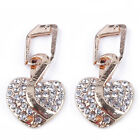 Heart Jewelry Set Crystal Necklace Pendant Earrings For Women Wedding Party LH