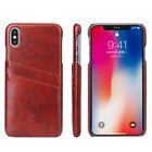 For Iphone 6 7 8 Plus Xs Max X Business Leather Wallet Card Slot Back Case Cover