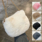 Women's Small Mini Faux Fur Single Shoulder Bag Crossbody Chain Purse Cute Bag