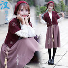 Chinese Style Hanfu Ru Dress Embroidered Cat Women's Casual Tradition Costume