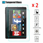 [2pack] Tempered Glass Screen Protector Case Cover Fr Amazon kindle Fire7 HD8/10