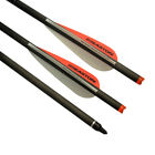 """20"""" Carbon Crossbow Bolts Easton Vanes Hunting Arrows Screw Points Moon Nocks"""