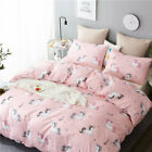 Bedding Sets Pink Unicorn Design Embroidery Bed Set Double Twin Queen King Size image