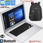 "14"" Quad Core Laptop 32gb Emmc 2gb Windows 10 Notebook Intel Tablet+free Bag Lot"