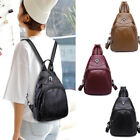 Convertible Faux Leather Small Backpack Rucksack Sling bag Purse Chest Pack