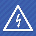High Voltage Electrical Shock Hazard Warning Symbol Vinyl Decal Sticker