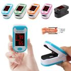 5 Colors LED Finger Pulse Oximeter SPO2 Pulse Rate Monitor Blood Oxygen Meter US