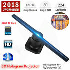 42cm 3D LED Hologram Projector Advertising Holographic Displayer Fan W/ 32GB TF