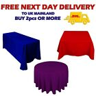 Seamless Tablecloth Red Royal Blue Purple Christmas Party Decor Square Round UK