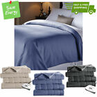 Electric Heated Fleece Channeled Warming Blanket Twin Full Queen King Size Throw image