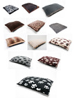 Fleece Paw Dog Bed Animal/Texture Warm Pet Washable Zipped Cover or Cushion Foam