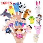 10/16pc Cartoon Finger Puppets Cloth Plush Doll Baby Educational Hand Animal Toy