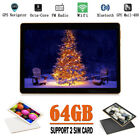 "10.1"" Inch Tablet Pc Android 6.0 4g+64g Octa-core Dual Sim &camera Phone Wifi Uk"