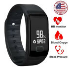2x2019 Latest Smart Watch Wrist Band Bracelet Fitness Tracker Heart Rate Monitor