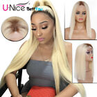 T4613 Blonde Lace Front Wig Straight Dark Roots Blonde Human Hair Wigs For Women