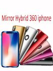 Mirror Hybrid 360 Hard Thin Cover For iPhone X 8 7 Plus 6s 5 Case Tempered Glass
