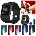 Fitbit Surge Replacement Silicone Wristband Strap Watch Band Metal Buckle image