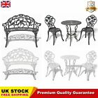 Bistro Table And Chairs Set Cast Aluminium Garden Patio Furniture Park Seat Chic