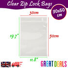 30x50 cm Grip Seal Zip Lock Self Press Resealable Clear Plastic Bags 1 - 100,000