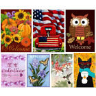 Xmas Fall Welcome Garden Flag 12.5 x 18inch Garden Yard Flower Decor Gift Hot